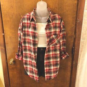 Brandy Melville oversized flannel. Like new